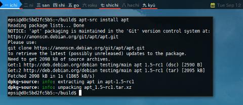Docker APT-SRC: install apt