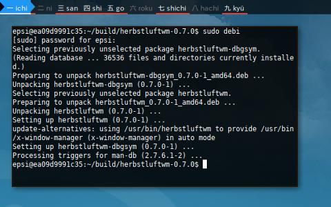 Docker Debian: debi