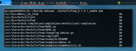 Docker Debian: debsums