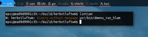Docker Debian: lintian