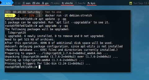 Docker APT Pinning: New Stable Container