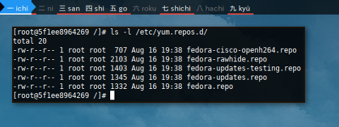 Docker DNF: /etc/yum.repos.d/