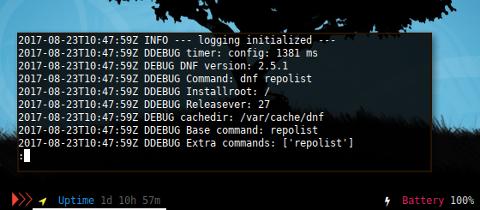 Docker: /var/log/dnf.log