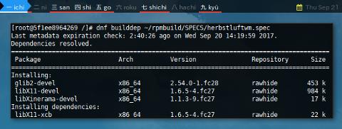 Docker DNF: Build Dependency