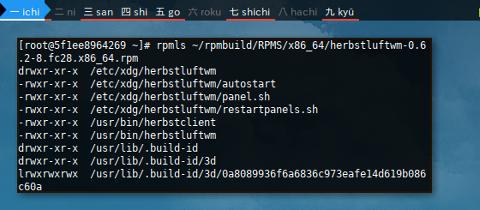 Docker Fedora: rpmls