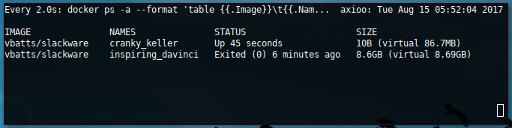 Docker Slackware: Huge Container Slackware64
