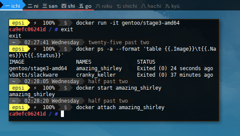 Docker Gentoo: Getting Started