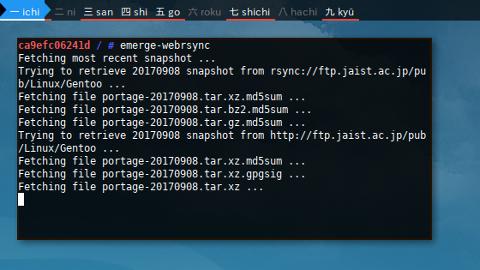 Docker Portage: jaist webrsync