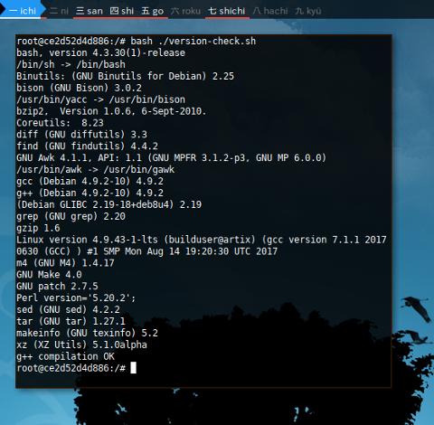 Docker LFS: Requirement Check
