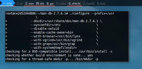 Docker LFS: man: configure