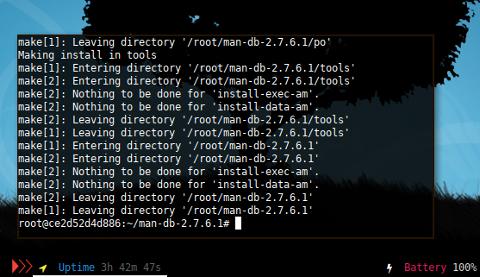 Docker LFS: man: install