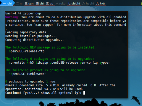 Docker Zypper: Distribution Upgrade