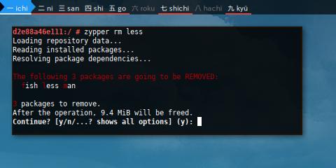 Docker Zypper: Test Dependency