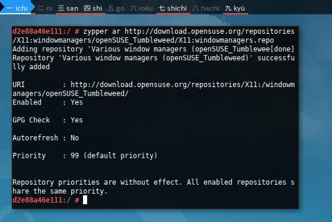 Docker Zypper: Add Repository