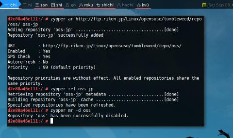Docker openSUSE: Mirror