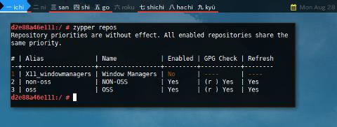 Docker Zypper: Repos Newly Added
