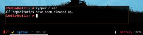 Docker Zypper: Clean