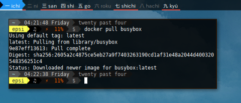 Docker Pull BusyBox