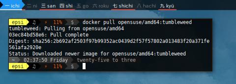 Docker Pull openSUSE Tumbleweed