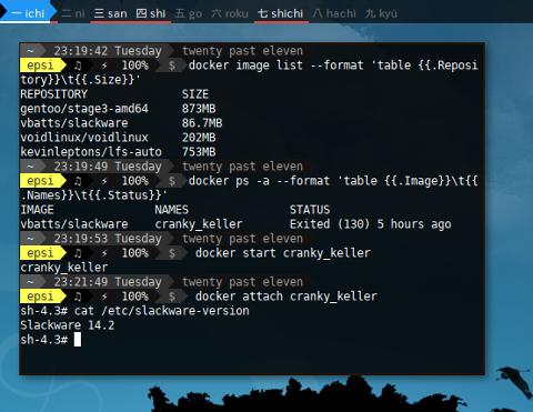 Docker Slackware: Getting Started