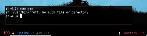 Docker Slackware: man man