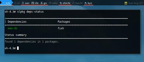 Docker Slackware: slpkg deps-status