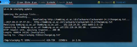 Docker slackpkg: update
