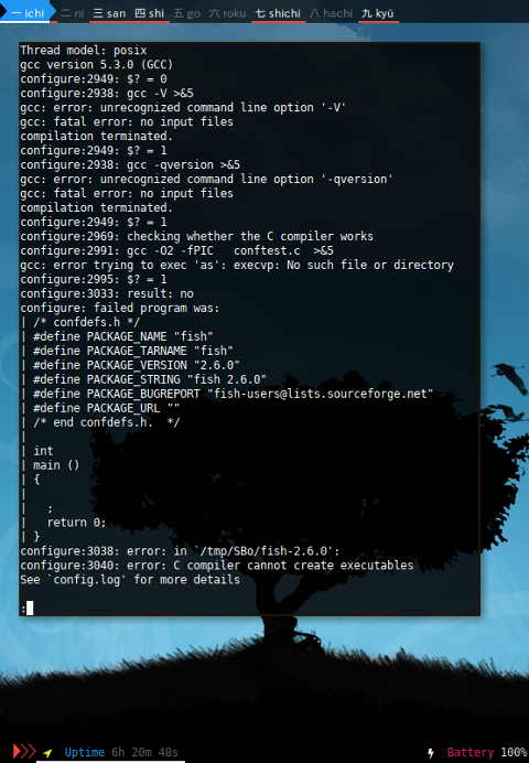 Docker Slackware: Take a look at config.log