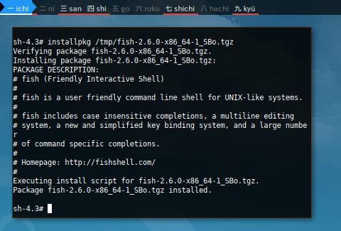 Docker Slackware: Build Fish using Slackbuild
