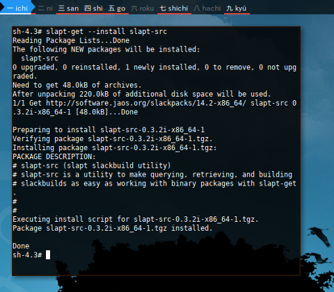 Docker slapt-src: Installing