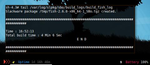 Docker Slackware: slpkg build log