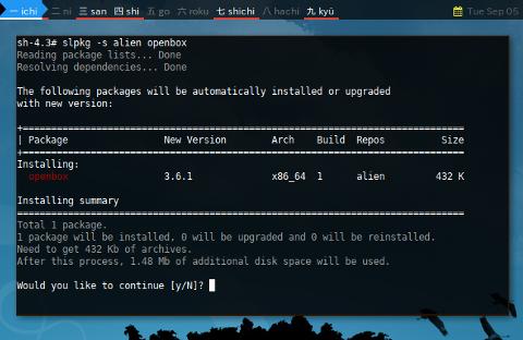 Docker slpkg: repositories.conf