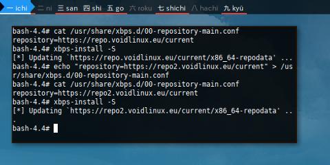 Docker XBPS: Mirror