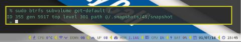BTRFS: get default subvolume