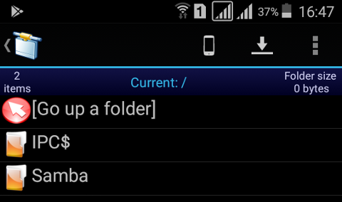 Network: Android: Fedora SMB