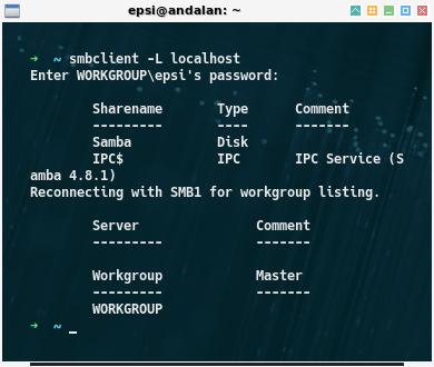 Network: Fedora: smbclient