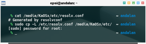chroot: KaOSx: rename /etc/resolv.conf