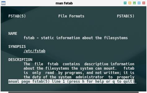 Multiboot: man fstab