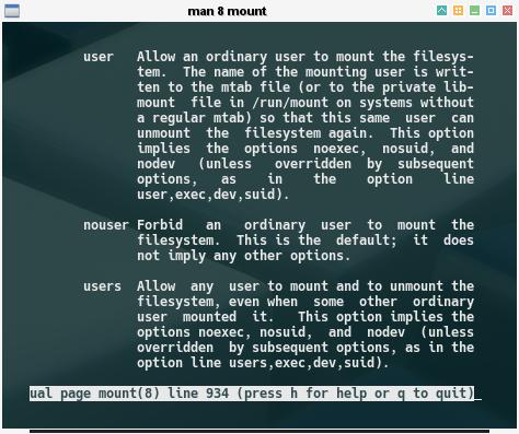 Multiboot: man mount