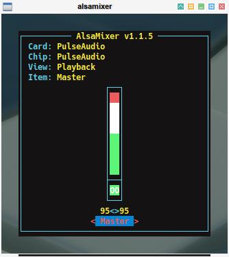 audio: alsamixer