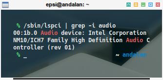 audio: lspci grep audio