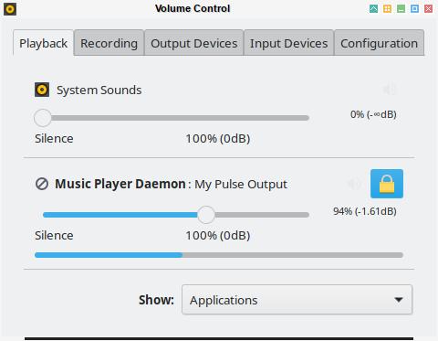 audio: pavucontrol