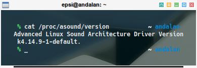 audio: /proc/asound/version