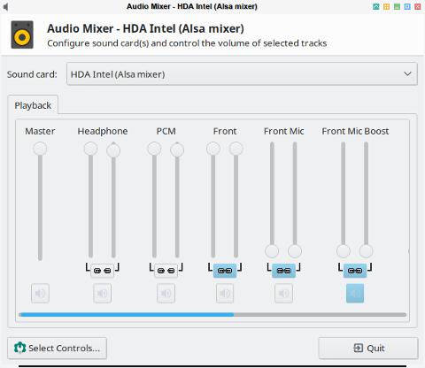 audio: xfce4-mixer