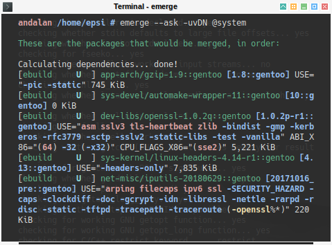 Portage: emerge -uvDN @world