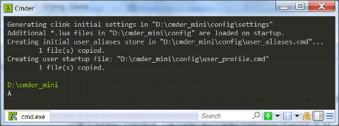 Windows: cmder mini