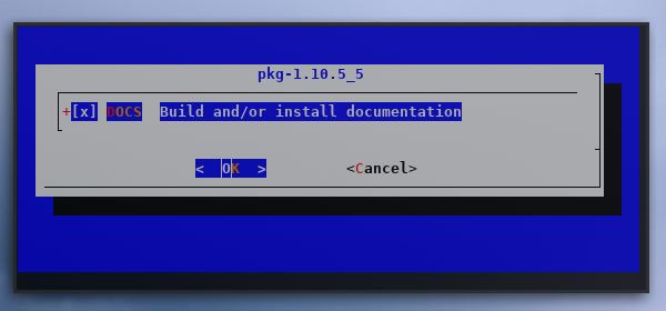 make: recursive: config: pkg