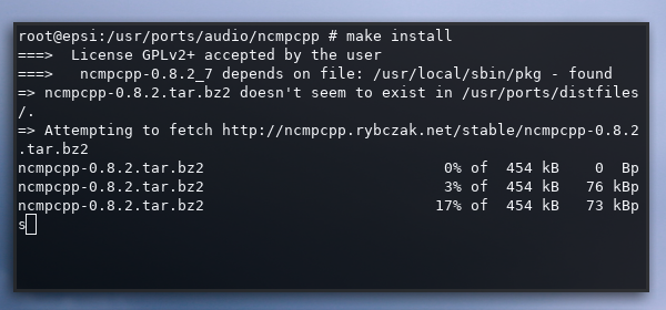 make: install: begin