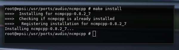 make: install