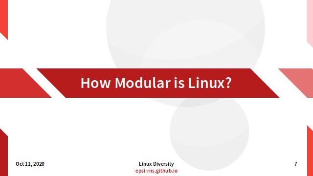 Slide - Modular Linux
